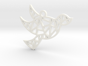 Dove's Nest in White Processed Versatile Plastic