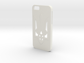 iPhone 6 Case Tryzub in White Natural Versatile Plastic