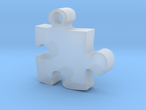 Puzzle piece in Smooth Fine Detail Plastic