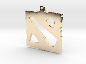 Dota 2 - Logo Pendant in 14K Yellow Gold