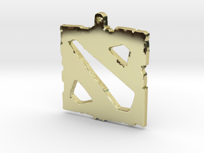 Dota 2 - Logo Pendant in 18k Gold Plated Brass
