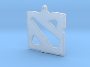 Dota 2 - Logo Pendant in Smooth Fine Detail Plastic
