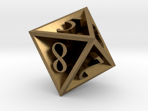 8 Sided Die in Natural Bronze