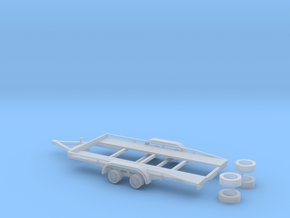 PKW Autotransport Anhänger / car Trailer - 1:87 H0 in Smooth Fine Detail Plastic