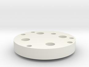 RobotAdapterPlate in White Natural Versatile Plastic