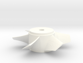 Ducted Fan 90mm rotor right turn in White Processed Versatile Plastic