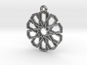 """""""Ten-Pointed Star"""" Pendant, Cast Metal in Natural Silver"""