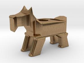 Terrier Pencil Holder in Natural Brass