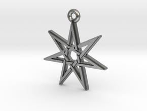 """Heptagram 3.0"" Pendant, Cast Metal in Natural Silver"
