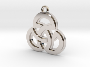 """""""Sacred Symmetry"""" Pendant, Cast Metal in Rhodium Plated Brass"""