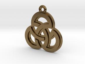 """Sacred Symmetry"" Pendant, Cast Metal in Natural Bronze"