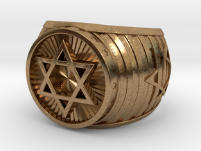 Jewish Ring in Natural Brass