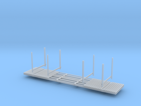 NP-BN Log Car HO Scale Lite Bunks in Smooth Fine Detail Plastic