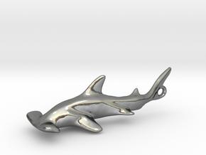 Hammerhead Pendant in Polished Silver