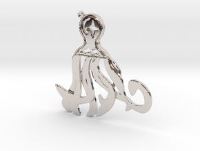 Midnight Octopus in Rhodium Plated Brass