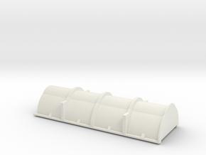 HO Scale Evans Coil Car - B&LE Cover in White Natural Versatile Plastic