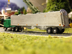 Grain Trailer Z Scale in Smooth Fine Detail Plastic
