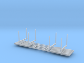 NP-BN Log Bunks N Scale lightweight bunks in Smooth Fine Detail Plastic