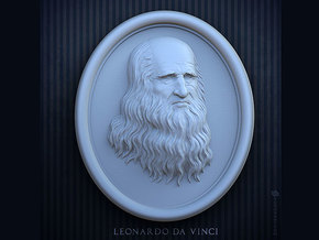 Leonardo da Vinci. 15cm in White Strong & Flexible Polished