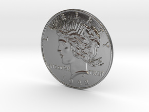 Two Face Silver Dollar (unscratched) in Polished Silver