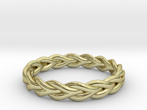 Ring of braided rope in 18k Gold Plated