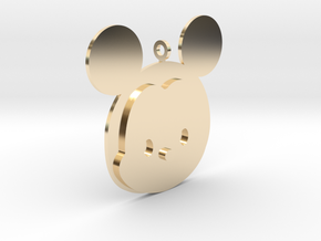 Tsum tsum Male Mouse Pendant in 14k Gold Plated Brass