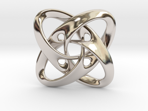 Sphere eversion (big version) in Rhodium Plated Brass