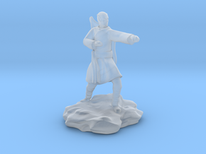 Elf Monk With Bow On Back in Smooth Fine Detail Plastic