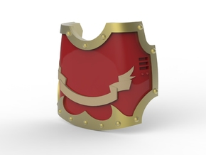 Knight - Left Hand Claw Cover with Banner in Smooth Fine Detail Plastic