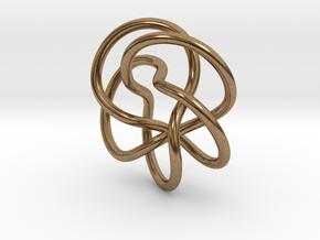Tubular Torus Knot Pendant in Natural Brass