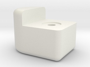 Knob 2 in White Natural Versatile Plastic