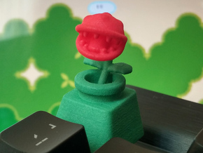 Piranha Plant Cherry MX Keycap in Green Processed Versatile Plastic