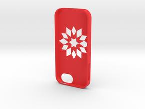 Flower Iphone5 Case in Red Processed Versatile Plastic