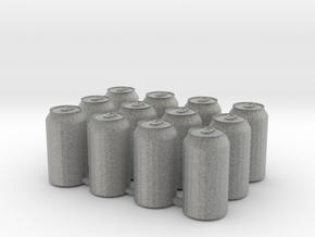 Soda Can 12pk in Metallic Plastic