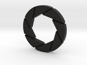 Aperture Logo in Black Natural Versatile Plastic