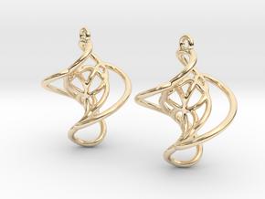 Swirl Earrings in 14K Yellow Gold