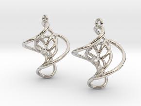 Swirl Earrings in Platinum