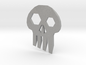 ''Skull'' Keychain / Pendant Multitool in Raw Aluminum