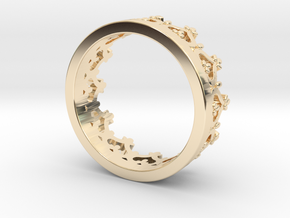 Crown ring in 14K Yellow Gold