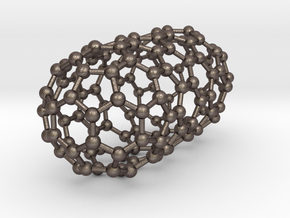 0079 Carbon Nanotube Capped (9,0) in Polished Bronzed Silver Steel