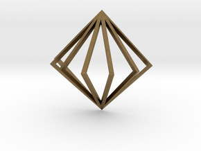 3D Fanned Diamond in Natural Bronze