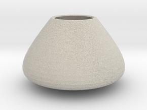 Bulky vase in Natural Sandstone