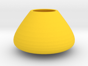 Bulky vase in Yellow Strong & Flexible Polished