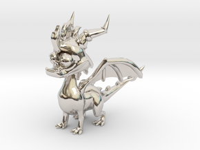 Spyro the Dragon - 5cm Tall in Platinum