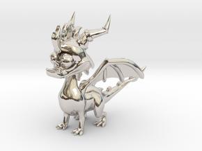 Spyro the Dragon - 5cm Tall in Platinum