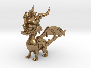 Spyro the Dragon - 5cm Tall in Natural Brass