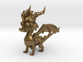 Spyro the Dragon - 5cm Tall in Natural Bronze