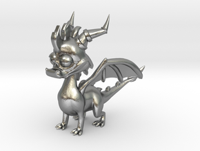 Spyro the Dragon - 5cm Tall in Natural Silver