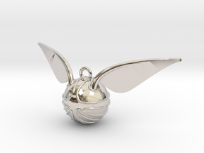 The Golden Snitch pendant in Rhodium Plated Brass