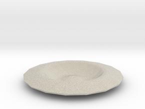 Spaceship plate in Natural Sandstone
